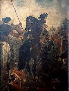 1857年10月10日のアグラの戦いでのキャ...