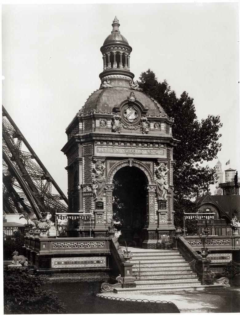 1889年のパリの万国博覧会のパビリオ ...