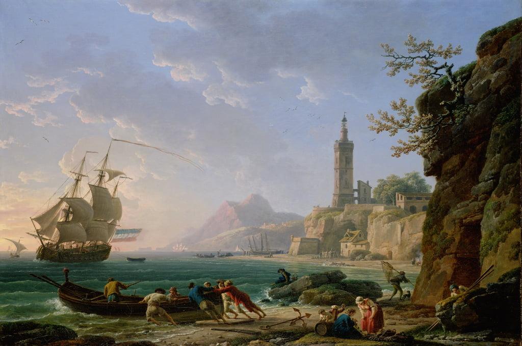 1769年、湾にオランダ人商人がいる地 ...