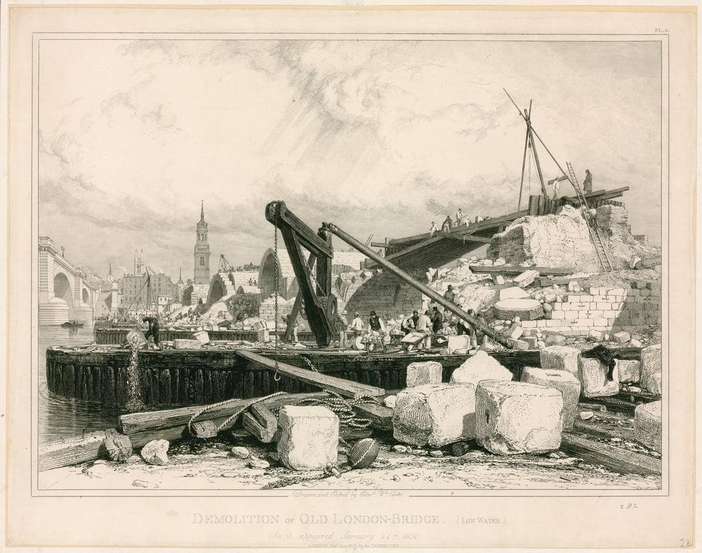 1832年のオールドロンドンブリッジの ...
