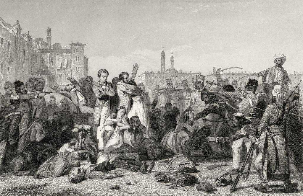 1858年に出版された「インドの反乱の ...