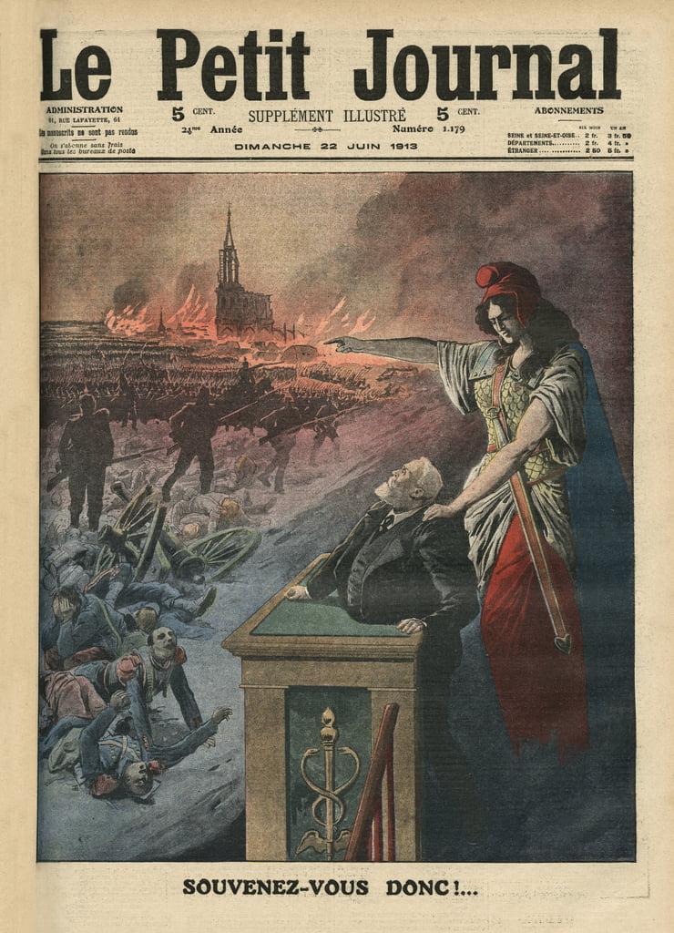 フランス、ジャンジョレス、マリアンヌの武装解除、1903年12月6日の「ルプチジャーナル」のイラストフランス、ジャンジョレス、マリアンヌの武装解除、1903年12月6日の「ルプチジャーナル」のイラスト