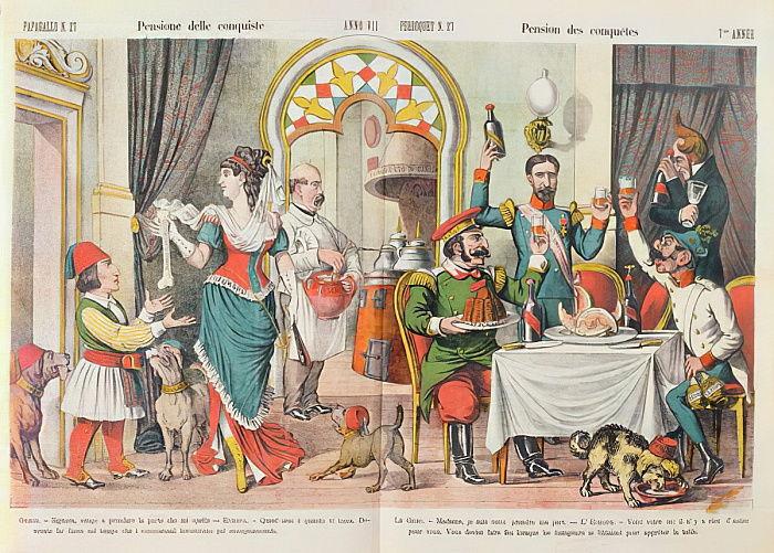 1878年のベルリン議会の似顔絵、ルペ ...