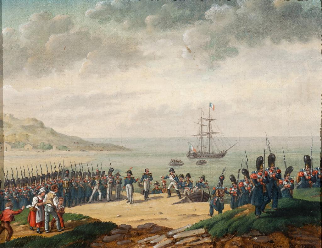 1815年にカンポスで下船したナポレオ ...