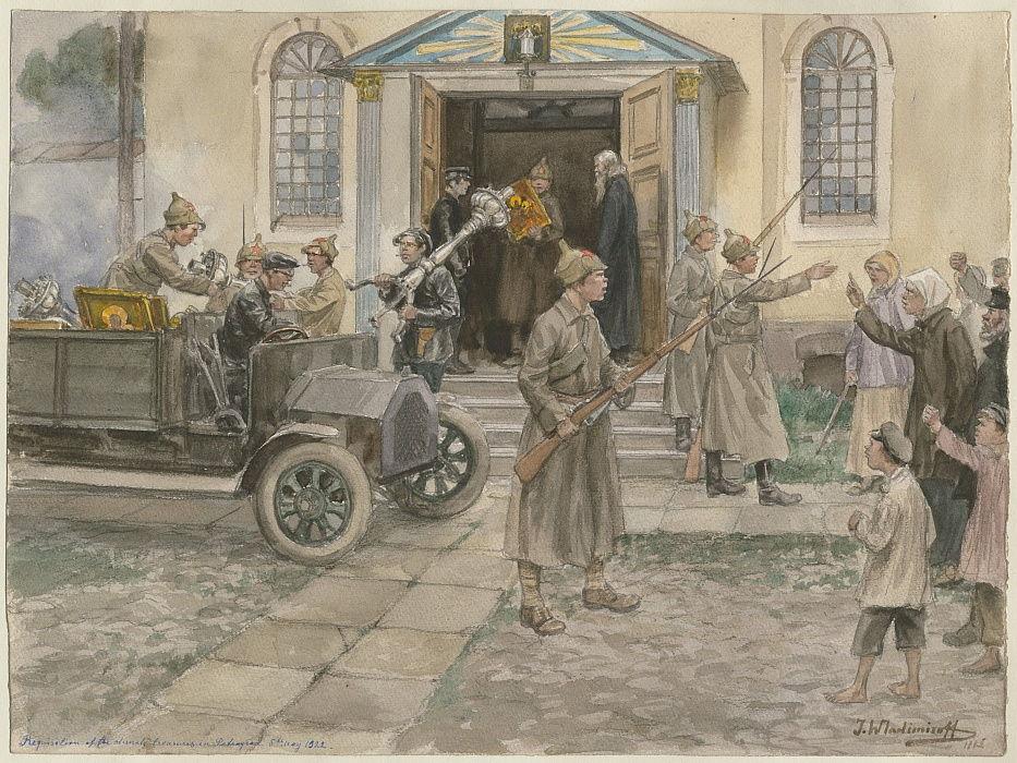 1922年5月5日、ロシアの水彩画シリー ...