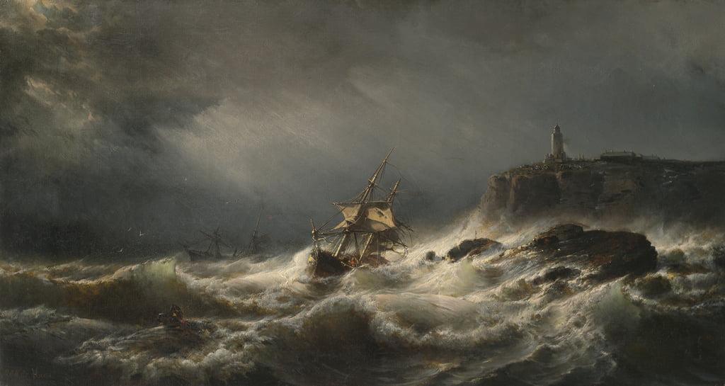 ジャージー島の難破船、1862年...