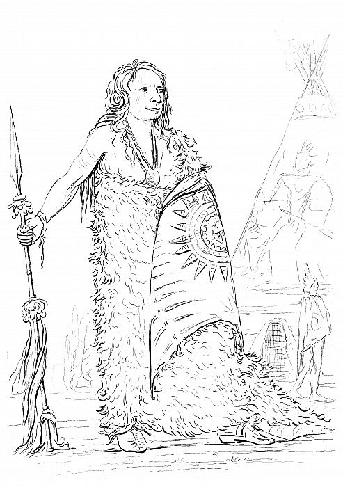ポンカ族の部長、スモーク、1841年。...