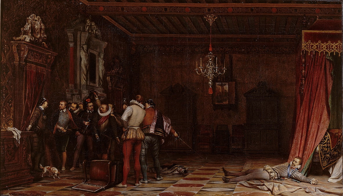 1588年のブロワ城でのギーズ公爵の暗 ...