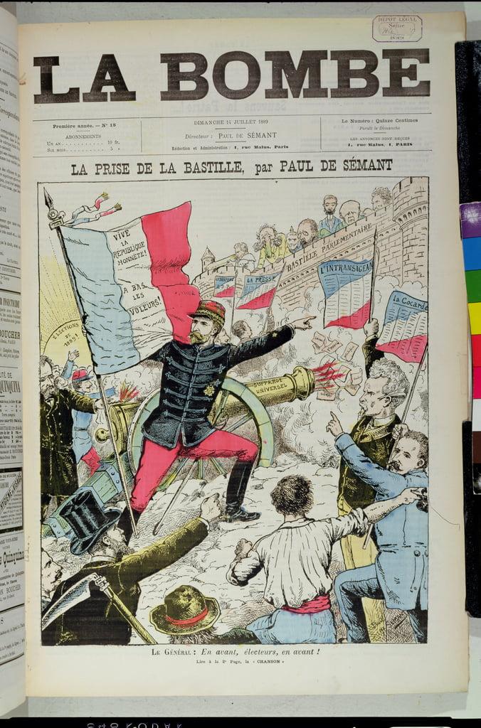 1889年7月14日の1889年フランス選挙での...