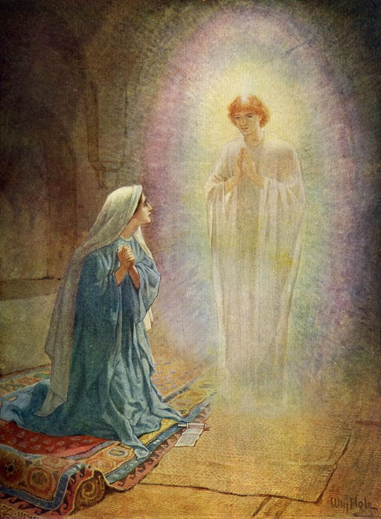 メアリーは天使ガブリエルを見る-聖 ...